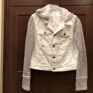 Ladies Free People White Denim Jacket